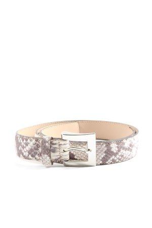 abro Leather Belt light grey animal pattern casual look