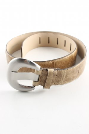 abro Leather Belt brown-cream casual look