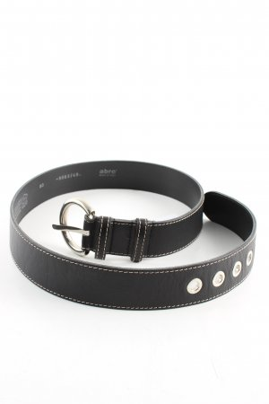 abro Leather Belt black business style