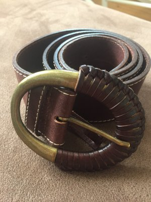 abro Leather Belt brown red leather