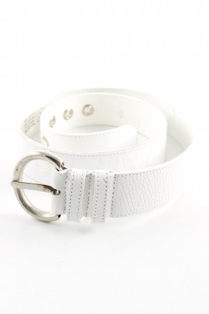 abro Leather Belt white casual look