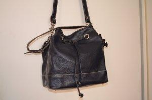 Abro Lederhandtasche, dunkelblau