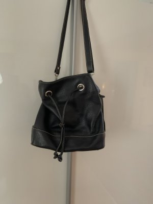 abro Pouch Bag dark blue leather