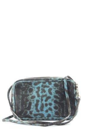 abro Mini Bag black-turquoise leopard pattern casual look
