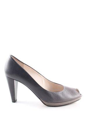 abro Peep Toe Pumps black-light grey casual look
