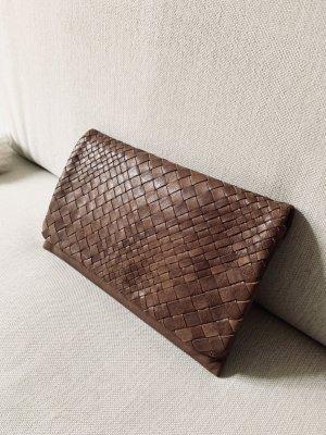 abro Clutch cognac-coloured leather