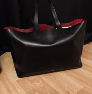 abro Shopper black-red leather