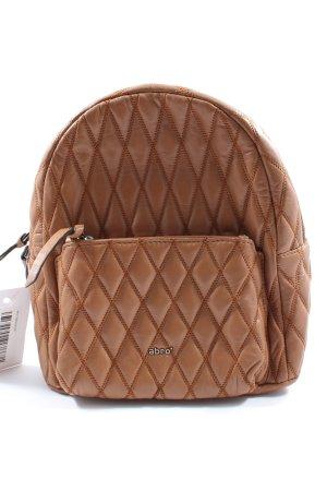 abro Plecak brązowy Pikowany wzór W stylu casual