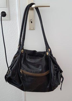 abro Shoulder Bag black-taupe mixture fibre
