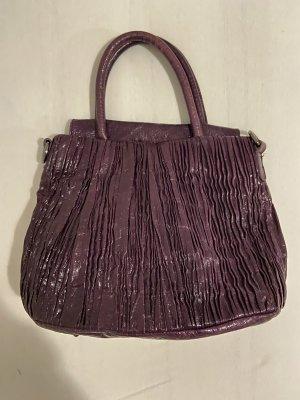abro Handbag dark violet leather