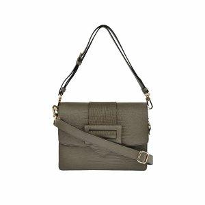 abro Shoulder Bag khaki leather
