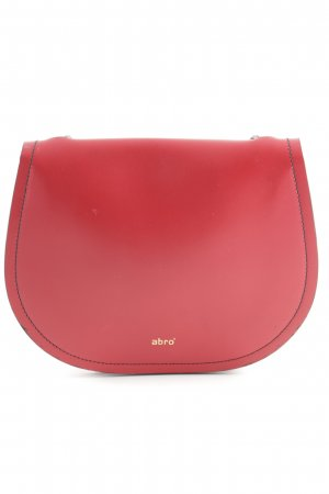 "abro Umhängetasche ""Calf Carmen Crossbody Bag Red/Black"" rot"