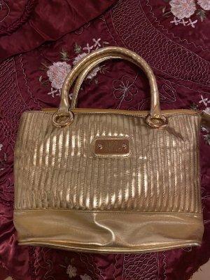 Abro Vintage Handtasche Gold gelbgold Glitzer