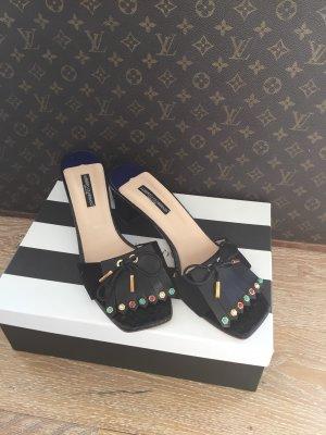 Alberto Guardiani Heel Pantolettes black leather