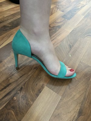 Zara Strapped High-Heeled Sandals mint