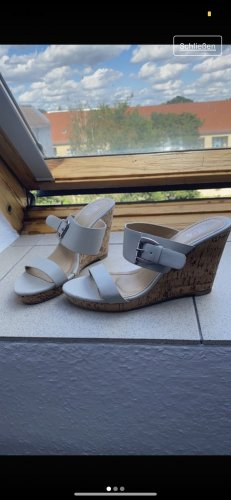 Wedge Pumps silver-colored