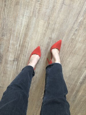 Primark Zapatos Oxford con puntera rojo