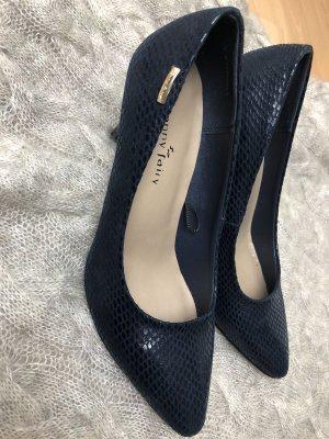 Absatz Schuhe blau