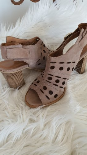 Absatz Schuhe Sandaletten Boho Sandalen Pumps High Heels Leder Gr.37,5