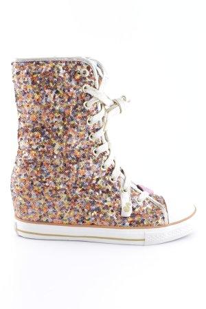 Absatz Stiefel mehrfarbig extravaganter Stil