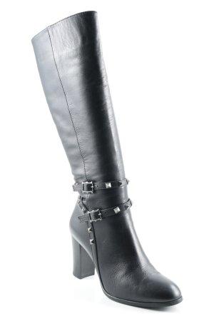 Absatz Stiefel schwarz Street-Fashion-Look