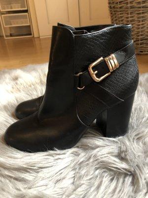 Graceland Heel Boots black-gold-colored