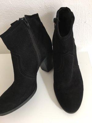 Absatz Stiefeletten schwarz
