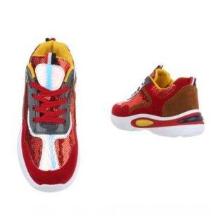 Absatz-Turnschuhe/Sneaker - Größe 38 - Red/White/Yellow - Flippig!