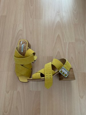 Scotch & Soda Strapped High-Heeled Sandals lime yellow