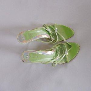 Cypres Sandales à talons hauts et lanière vert fluo faux cuir