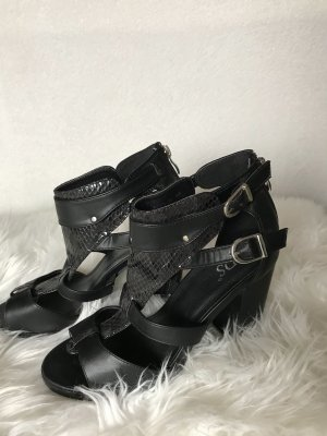 SDS Platform High-Heeled Sandal black