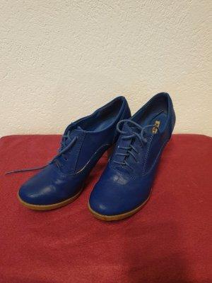 Jumex Escarpins à lacets bleu