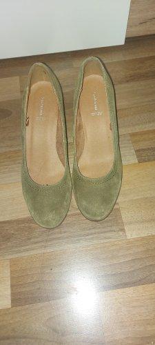5th Avenue Zapatos de cuña gris verdoso