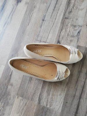 SDS Sandalo con tacco crema