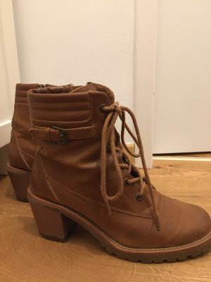 BSK by Bershka Ankle Boots brown