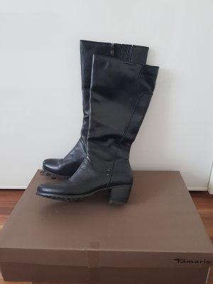 Absatzschuhe klassische Stiefel Leder Gr. 38 von Tamaris