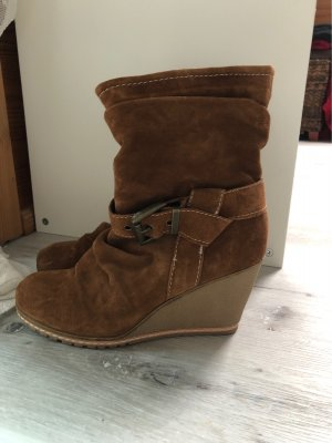 Heel Boots brown-cognac-coloured