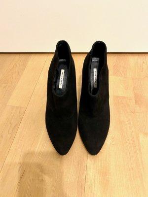 Zara Stivaletto arricciato nero
