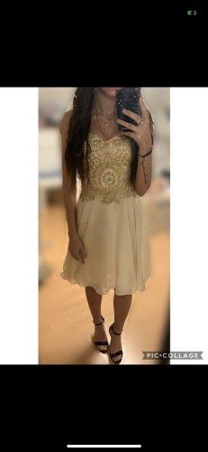 Abschlussball Kleid Gold