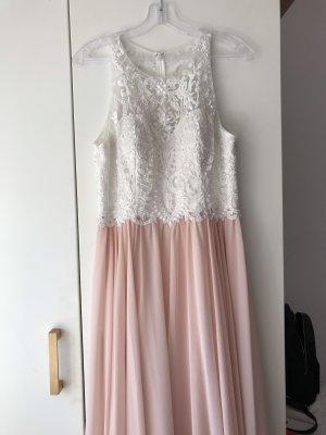 Peek & Cloppenburg Suknia balowa w kolorze różowego złota-biały