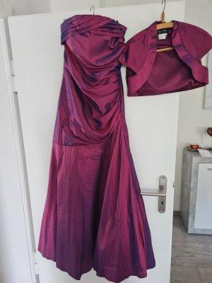 Unbekannte Marke Sukienka bez ramiączek purpurowy-brązowo-fioletowy