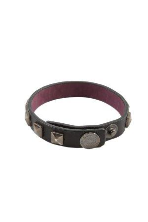ABSOLUT Braccialetto sottile nero-argento stile casual