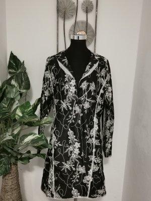 Absolut by Zebra Damen Mantel Sommermantel 100 % Seide bestickt Größe 42