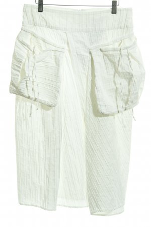 Absolut by Zebra Plaid Skirt natural white striped pattern extravagant style
