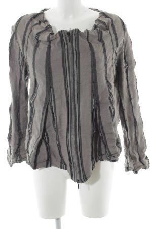 Absolut by Zebra Overgangsjack groen-grijs-khaki gestreept patroon simpele stijl