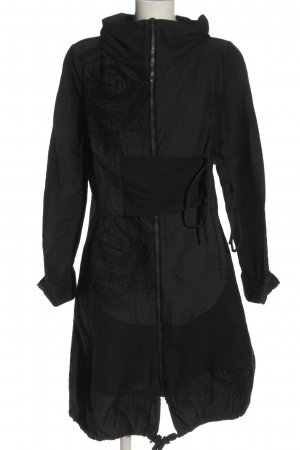 ABSOLUT Giacca lunga nero motivo a righe stile casual