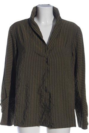 ABSOLUT Blazer lungo marrone-verde motivo a righe stile casual