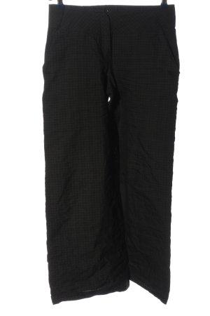 ABSOLUT Pantalone jersey nero motivo a quadri stile casual