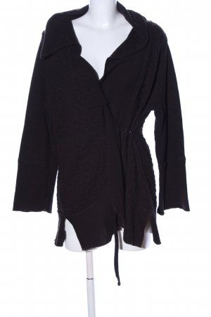 ABSOLUT Veste en tricot noir style décontracté