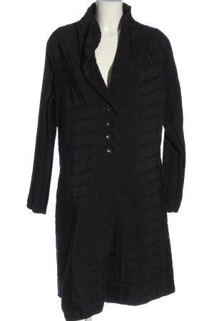 ABSOLUT Cappotto mezza stagione nero motivo a righe stile casual